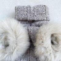 ORIGINAL far turtle knit . [ beige  XS , S , M ]
