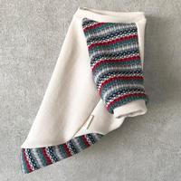 ORIGINAL mulchborder raglan knit . [ beige  L , XL ]