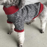 ORIGINAL tweed柄 turtle knit .[ red XS , S , M ]
