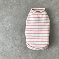 ORIGINAL border  tank top . [ pink ]