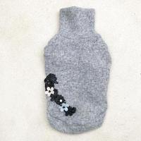 ORIGINAL flower turtle knit  . [ gray   XS , S , M ]