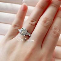 【即納7号】Sona Diamond platinum plating ring