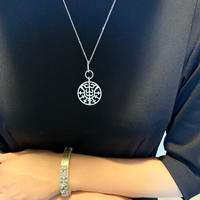 【即納】AAAcz Abstract Pattern Necklace