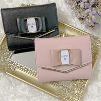 【リボン付き】V-Cut Mini Wallet♡ミニ財布
