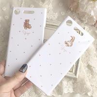【ネーム入り】Android対応〇 Bear Rabbit Friends♡【ハードケース】C1