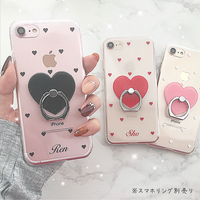 【ネーム入り】Mini Heart♡ミニハート【クリアハードケース】H07