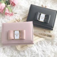 【リボン付き】Pearl Mini Wallet♡ミニ財布