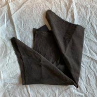 22 柿渋染めスカーフ(絹、綿)
