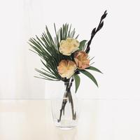 お家でワークショップキット 〜布花の桃の花を作ろう〜