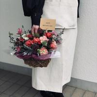 【早割】mother's day flower arrangement  / L size RED(5/6〜10お届け)