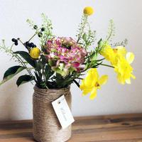 お家でワークショップキット 〜麻紐のアレンジ花瓶を作って季節のお花を飾ろう〜