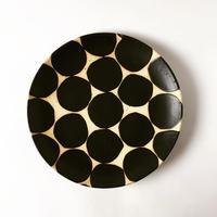 モノクロ皿(黒丸)