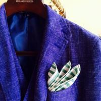 CARLO RIVA の手巻きポケットチーフ