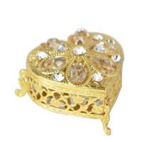 スワロフスキー ハート小物入れ ゴールド 品番:pa-01663