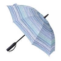 扇風機付き日傘 晴雨兼用 50cm 扇風機日傘【ブルーライン】