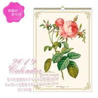 2019年ローズカレンダー 角型 壁掛け 香り付 薔薇のカレンダー ルドゥーテ 品番:am-apj-2300