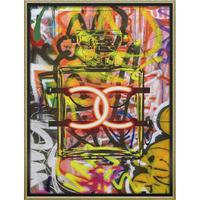 オマージュキャンバスアート「グラフィティパフューム1」 L 額絵 プチアート 【yp-bc-18015】