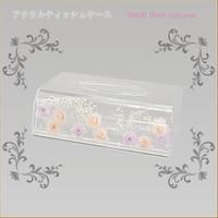 アクリルティッシュケース スモールローズライトピンク 商品番号:am-nap-0145