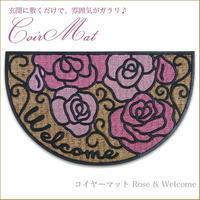 コイヤーラバーマット Rose & Welcome 品番:am-eur-1460