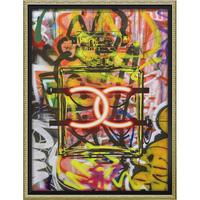 オマージュキャンバスアート「グラフィティパフューム1」 M 額絵 プチアート 【yp-bc-12035】