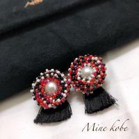 beads pearl tassel pierce
