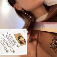 chain pearl drop pierce