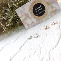 【silver925】 T smile  pierce