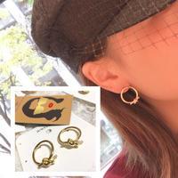 gold ring  tie pierce