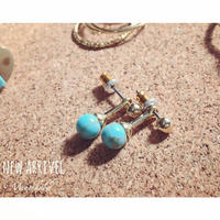 turquoise small pierce
