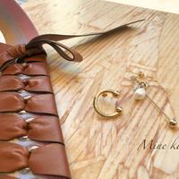 【チタン】C motif asymmetry pearl pierce