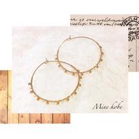 gold bead hoop pierce