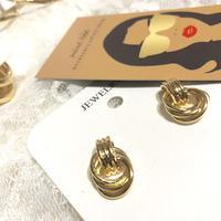 gold ring twist mini pierce