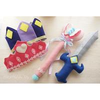 【型紙レシピ】プリンセス&ナイトset