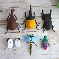 【型紙レシピ】フェルトの昆虫