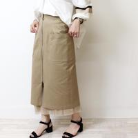 Abientot select.|チュールレイヤードジップスカート|S2010