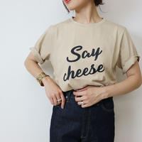 Abientot select!|ロゴカットソー|Say cheese|T2063
