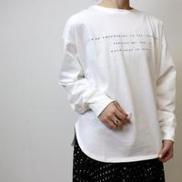 Abientot original item!|オリジナルプリント裾ラウンドカットソー|T2022