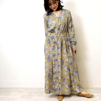 Abientot original item!|別注ペイズリー柄ノーカラーワンピース|O2003