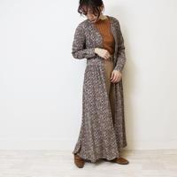 Abientot original item!|別注ビンテージフラワー柄ノーカラーワンピース|O1023