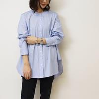 Abientot original item!|別注ストライプノーカラーオーバーシャツ '20 spring|T1079