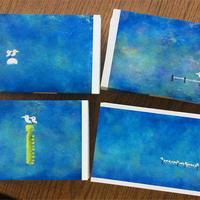 海で鳥シリーズ 絵葉書4枚セット