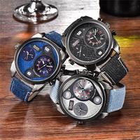 Oulm メンズ 腕時計 ファッション クォーツ スポーツ デニム カジュアル 通学 通勤 ウォッチ(kk04597)