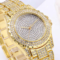 Mashali 海外ブランド レディース 腕時計 ウォッチ クォーツ クリスタル ラインストーン パヴェ ジュエリー 女性用 ダイヤモンド キラキラ時計(kk04566)