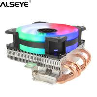 90mm 4ヒートパイプ CPU クーラー CPU ファン 静音 高冷却 イルミネーション ALSEYE LGA1155 LGA1156 AM2+ AM3+ AM4(mk00264)