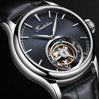 AESOP メンズ 腕時計 トゥールビヨン 機械式 高級 ビジネス シック 革 レザー 通勤 通学 (kk05641)
