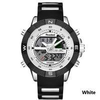 Readeel メンズ 腕時計 ウォッチ クォーツ クロノグラフ 防水 LED アナデジ 男性用 スポーツウォッチ カジュアル ビジネス ミリタリー レロジオ(kk04529)