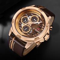 MEGIR メンズ腕時計 セラミック調ベゼル クォーツ ラバーバンド クロノグラフ(kk04499)