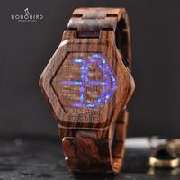 BOBO BIRD メンズ 腕時計 木製 LED ディスプレイ ウッド ウォッチ ナイトビジョン 通勤 通学 ビジネス カジュアル(kk04637)