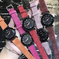 レディース ウォッチ 腕時計 カラフル 本革 スウェードベルト クリスタル ブレスウォッチ 通学 通勤 カジュアル ビジネス(kk04672)