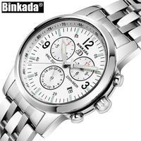 Binkada メンズ 腕時計 クロノグラフ 防水 ステンレス 通勤 通学 ビジネス(kk04755)